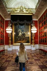 Artworks of the State Hermitage Museum is seen in the photo, Saint Petersburg, Russia, July 10, 2019.