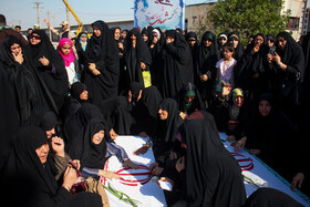 Bodies of 44 Iranian martyrs of Iran's sacred defense arrive in Iran, July 11, 2019.