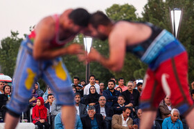 International tournament of Pahlavani wrestling in Mashhad, Iran, July 12, 2019.