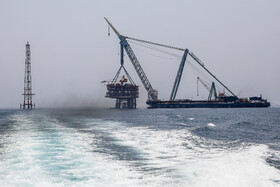 Installation of Platform 14B in South Pars gas field, Assaluyeh, Iran, July 13, 2019.