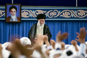 Iran's Supreme Leader Ayatollah Ali Khamenei is seen in his meeting with Leaders of Friday Prayers from across the country, Tehran, Iran, July 16, 2019. The meeting was held on the event of the 40th anniversary of the first Friday Prayers organized after the Islamic Revolution in August 1979.