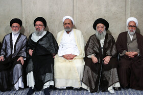 Meeting between Iran's Supreme Leader Ayatollah Ali Khamenei and Leaders of Friday Prayers from across the country, Tehran, Iran, July 16, 2019. The meeting was held on the event of the 40th anniversary of the first Friday Prayers organized after the Islamic Revolution in August 1979.