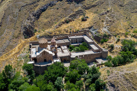 Historical Saint Stepanos Monastery is seen in the photo, Aras Free Trade-Industrial Zone, Jolfa County, East Azerbaijan Province, Iran, July 16, 2019.