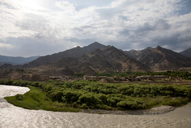 Aras River flows along the border between Iran and Armenia, East Azerbaijan Province, Iran, July 16, 2019.
