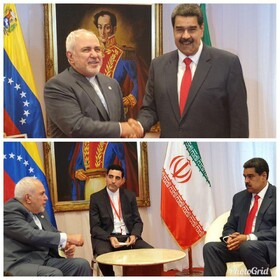 Zarif holds talks with Venezuelan President, Vice President