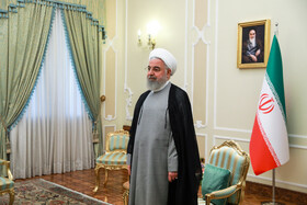 Iranian President Hassan Rouhani is seen before his meeting with Omani Foreign Minister Yusuf bin Alavi, Tehran, Iran, July 28, 2019.