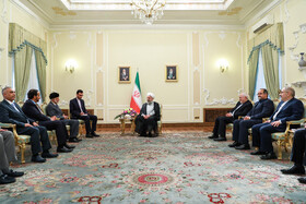 Meeting between Iranian President Hassan Rouhani and Omani Foreign Minister Yusuf bin Alavi, Tehran, Iran, July 28, 2019.