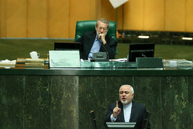 Iran's Parliament open session held in presence of FM Zarif