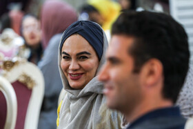 Director Naregs Abyar (L) is present during the ceremony of Iran Cinema Celebration, Tehran, Iran, July 29, 2019. The Iranian House of Cinema organizes the celebration every year to commemorate Iran's National Day of Cinema, which is on September 12.