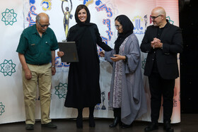 Nominees of Iran Cinema Celebration are honored in a ceremony in Tehran, Iran, July 29, 2019. The Iranian House of Cinema organizes the celebration every year to commemorate Iran's National Day of Cinema, which is on September 12.