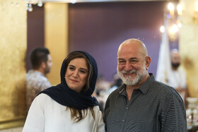 Actress Stareh Pesyani and actor Atila Pesyani are present during the ceremony of Iran Cinema Celebration, Tehran, Iran, July 29, 2019. The Iranian House of Cinema organizes the celebration every year to commemorate Iran's National Day of Cinema, which is on September 12.