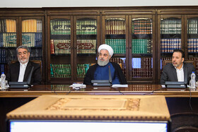 Iranian President Hassan Rouhani gives a speech in the meeting of the Drug Control Headquarters, Tehran, Iran, July 30, 2019.