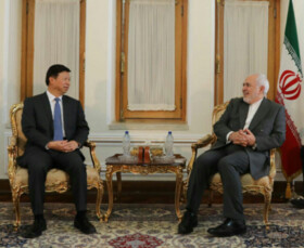 Iran's Zarif, China's Song Tao hold talks in Tehran