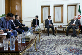 Meeting between the head of the International Liaison Department of the Communist Party of China Song Tao and Iranian Foreign Minister Mohammad Javad Zarif, Tehran, Iran, July 30, 2019.