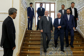 Iranian Foreign Minister Mohammad Javad Zarif is seen before his meeting with the head of the International Liaison Department of the Communist Party of China Song Tao, Tehran, Iran, July 30, 2019.