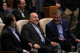 Minister of Youth Affairs and Sports Masoud Soltanifar (M) is present in the celebration of Iran's National Marriage Day in Tehran, Iran, August 3, 2019.