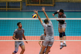 Training session of Iran Men's National Volleyball team before participating in Intercontinental Qualification Tournaments for Tokyo 2020 Olympic Games, Tehran, Iran, August 4, 2019.