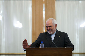 """Iranian Foreign Minister Mohammad Javad Zarif delivers a speech during a news conference with international and local media, Tehran, Iran, August 5, 2019. During the press conference with international and local media, Iranian Foreign Minister said, """"Iran will never purchase its security and progress. Our security and progress stem from our own people. No matter how much pressure they put on us, we walked on our own path and succeeded because we relied on our people""""."""