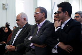 """Iranian Foreign Minister Mohammad Javad Zarif (L) is seen before attending a news conference with international and local media, Tehran, Iran, August 5, 2019. During the press conference with international and local media, Iranian Foreign Minister said, """"Iran will never purchase its security and progress. Our security and progress stem from our own people. No matter how much pressure they put on us, we walked on our own path and succeeded because we relied on our people""""."""