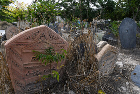 Historic Sefid Chah Cemetery, Mazandaran, Iran, August 5, 2019. Sefid Chah Cemetery is a famous place among local people and people from other cities prefer to bury the dead bodies of their families and relatives in this cemetery.