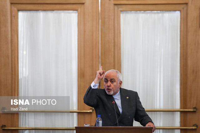 Zarif's reaction to joint statement by France, Britain, Germany