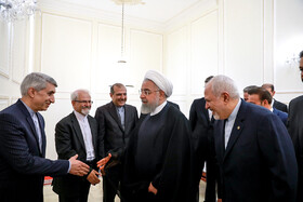 Iranian President Hassan Rouhani is seen before his meeting with Iranian Foreign Minister Mohammad Javad Zarif and officials of Foreign Ministry ,Tehran, Iran, August 6, 2019.