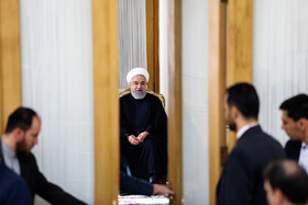On the sidelines of the meeting between Iranian President Hassan Rouhani, Iranian Foreign Minister Mohammad Javad Zarif and other officials of Foreign Ministry, Tehran, Iran, August 6, 2019.