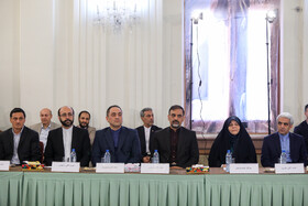 Meeting between Iranian President Hassan Rouhani, Iranian Foreign Minister Mohammad Javad Zarif and officials of Iranian Foreign Ministry, Tehran, Iran, August 6, 2019.