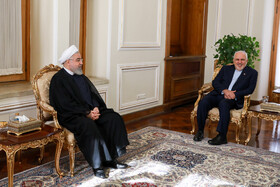 Meeting between Iranian President Hassan Rouhani (L) and Iranian Foreign Minister Mohammad Javad Zarif, Tehran, Iran, August 6, 2019.