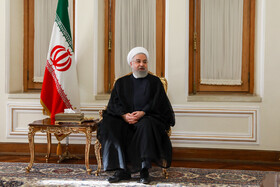 Iranian President Hassan Rouhani is seen in his meeting with Iranian Foreign Minister Mohammad Javad Zarif, Tehran, Iran, August 6, 2019.