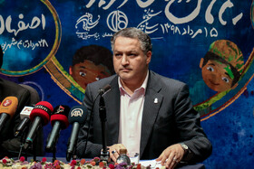 Director of the 32nd International Film Festival for Children and Youth Alireza Tabesh is present during the press conference for the film festival, Tehran, Iran, August 6, 2019. Established in 1982, the International Film Festival for Children and Young Adults (ICFF) is an annual film festival held in the historic city of Isfahan, Iran.