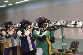 Training session of Iran women's and men's national sports shooting teams, Tehran, Iran, August 6, 2019.