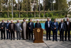 On the sidelines of Iran's weekly cabinet session, Tehran, Iran, August 7, 2019.