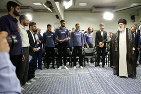 Iran's Leader meets Olympiad medalists, Iran youth volleyball team
