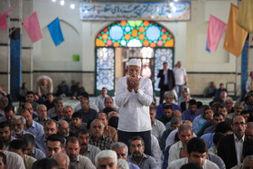 Offering prayers of Eid-al Adha in Kermanshah, Iran, August 12, 2019. Eid al-Adha also known as Eid Qurban, is an Islamic holiday which commemorates God's testing of Abraham's faith by commanding him to sacrifice his son, Ismail.