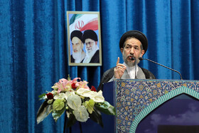 Iranian politician Mohammad-Hassan Aboutorabi Fard delivers a speech during the offering of Eid-al Adha prayers at Tehran's Imam Khomeini Mosalla, Iran, August 12, 2019. Eid al-Adha also known as Eid Qurban, is an Islamic holiday which commemorates God's testing of Abraham's faith by commanding him to sacrifice his son, Ismail.