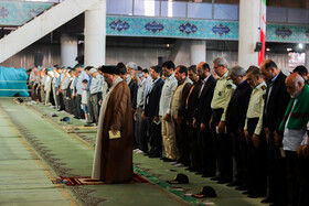 Offering prayers of Eid-al Adha in Isfahan, Iran, August 12, 2019. Eid al-Adha also known as Eid Qurban, is an Islamic holiday which commemorates God's testing of Abraham's faith by commanding him to sacrifice his son, Ismail.