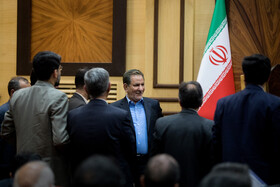 """Second national gathering of """"Economic Agents and the Leaders of Development"""" in the presence of Iranian First Vice-President Es'haq Jahangiri, Tehran, Iran, August 13, 2019."""