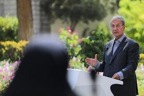 """Iranian government's spokesman Ali Rabiei is seen on the sidelines of Iran's weekly cabinet session, Tehran, Iran, August 14, 2019. Speaking on Wednesday in a cabinet session, President Hassan Rouhani said, """"All propaganda about a new coalition in the Persian Gulf and the Sea of Oman are impractical and superficial. Without a doubt, if a part of this propaganda is put into action, they will not be beneficial for the security of the region""""."""