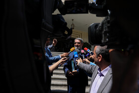 """Iranian Interior Minister Abdolreza Rahmani Fazli is seen on the sidelines of Iran's weekly cabinet session, Tehran, Iran, August 14, 2019. Speaking on Wednesday in a cabinet session, President Hassan Rouhani said, """"All propaganda about a new coalition in the Persian Gulf and the Sea of Oman are impractical and superficial. Without a doubt, if a part of this propaganda is put into action, they will not be beneficial for the security of the region""""."""