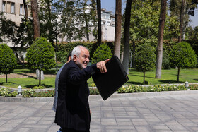 """Iranian Foreign Minister Mohammad Javad Zarif is seen on the sidelines of Iran's weekly cabinet session, Tehran, Iran, August 14, 2019. Speaking on Wednesday in a cabinet session, President Hassan Rouhani said, """"All propaganda about a new coalition in the Persian Gulf and the Sea of Oman are impractical and superficial. Without a doubt, if a part of this propaganda is put into action, they will not be beneficial for the security of the region""""."""