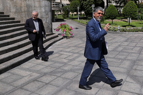 """Iran's Culture and Islamic Guidance Minister is seen on the sidelines of Iran's weekly cabinet session, Tehran, Iran, August 14, 2019. Speaking on Wednesday in a cabinet session, President Hassan Rouhani said, """"All propaganda about a new coalition in the Persian Gulf and the Sea of Oman are impractical and superficial. Without a doubt, if a part of this propaganda is put into action, they will not be beneficial for the security of the region""""."""