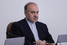 """Iranian Minister of Sports and Youth Affairs Masoud Soltanifar is present in Iran's weekly cabinet session, Tehran, Iran, August 14, 2019. Speaking on Wednesday in a cabinet session, President Hassan Rouhani said, """"All propaganda about a new coalition in the Persian Gulf and the Sea of Oman are impractical and superficial. Without a doubt, if a part of this propaganda is put into action, they will not be beneficial for the security of the region""""."""