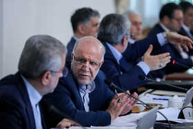 """Iran's Oil Minister Bijan Zanganeh is present in Iran's weekly cabinet session, Tehran, Iran, August 14, 2019. Speaking on Wednesday in a cabinet session, President Hassan Rouhani said, """"All propaganda about a new coalition in the Persian Gulf and the Sea of Oman are impractical and superficial. Without a doubt, if a part of this propaganda is put into action, they will not be beneficial for the security of the region""""."""
