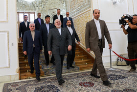 Iranian Foreign Minister Mohammad Javad Zarif is seen before his meeting with Japan's Senior Deputy Minister for Foreign Affairs Takeo Mori, Tehran, Iran, August 17, 2019.