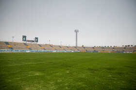Takhti Stadium is prepared for the new edition of the Persian Gulf Pro League, Bushehr, Iran, August 17, 2019.