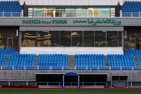 Imam Reza Stadium is prepared for the new edition of the Persian Gulf Pro League, Mashhad, Iran, August 17, 2019.