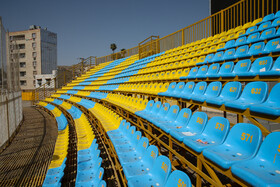 Behnam Mohammadi Stadium is prepared for the new edition of the Persian Gulf Pro League, Masjed Soleyman, Khuzestan, Iran, August 17, 2019.