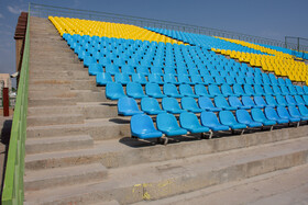 Takhti Stadium is prepared for the new edition of the Persian Gulf Pro League, Abadan, Khuzestan, Iran, August 17, 2019.
