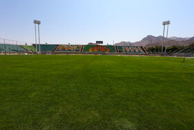 Foolad Shahr Stadium is prepared for the new edition of the Persian Gulf Pro League, Isfahan, Iran, August 17, 2019.